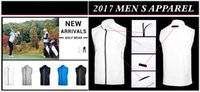 Wholesale Sports Wind Jackets - 2017 Ti golf vest supper thin sleeveless sports wind proof jacket 5 colors OEM available
