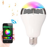Wholesale Smart LED Bulb Bluetooth Speaker LED RGB Light E27 Wireless Loudspeaker Music Player with APP Remote Control For Home KTV Party