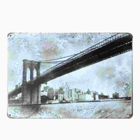 Wholesale Vintage Brooklyn - [ Brooklyn Bridge ]Vintage Home Decor Tin Sign Shabby Chic Plaque Metal Decorative Vintage Metal Sign Placas Decorativa De Metal 20170414#