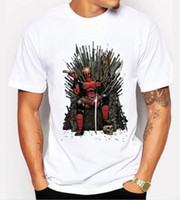 Wholesale Men Shirts Low Prices - Low Price Tees Short Top O-Neck Game Of Thrones Deadpool T Shirt For Men
