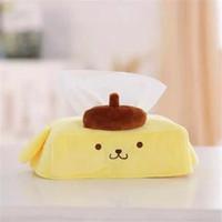 Wholesale Napkin Box Design - Wholesale- Yellow Cartoon Design Tissue Napkin Cases Toilet Paper Holder Plush Tissue Box Animal Shaped 2016 Home Decoration Free Shipping