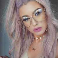Wholesale Femme Mirror - vintage round sunglasses women luxury brand designer ladies circle sunglasses Sun glasses orange gradient eyeglass lunette femme