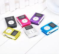 hafıza kutusu kartları toptan satış-LCD Ekran Desteği ile MP3 Çalar Mini Klip Müzik Çalar Mikro TF / SD Hafıza Kartı USB Kabloları Kulaklık Kristal Perakende Kutusu Ile Gel