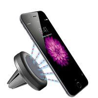 cep telefonları için araba beşiği toptan satış-Toptan-Evrensel Araba Hava Firar Manyetik Araba Cradle Tutucu Cep Telefonları için 5 inç MID