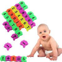 ingrosso giocattoli matematici-36Pcs Baby Child Number Symbol Puzzle Schiuma Matematica Giocattolo educativo Regalo 3d metallo puzzle di apprendimento giocattoli educativi