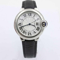 Hot Sell New Luxury Automatic Ballon Leather Black Stainless Steel Band Relógios Femininos Sport Watch Relógios de Moda Unisex Dress