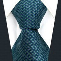 Wholesale Necktie Extra Long - Y28 Turquoise Solid Silk Classic Jacquard Woven Fashion Extra Long Size Men Necktie Tie