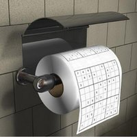 Wholesale Toilet Tissue Paper Wholesaler - Bathroom Toilet Loo Paper Sudoku Roll Toilet Tissue Paper Sudoku Toilet Paper Roll Funny Game Kill Time Novelty Gift CCA6839 100pcs