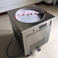 Wholesale Air Frying - 2017 Thai fried ice cream roll machine single 50 cm pan fry pan ice cream rolled juice yoghourt maker 110v 220v DHL