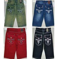 nuevos jeans de rock al por mayor-Shorts de verano para hombre Robin Denim Shorts Jeans Diseños famosos Estilo de la moda Rock Revival Jeans Pants New Arrivial