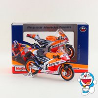 Wholesale Honda Diecast - Free Shipping Maisto 1:18 Motorcycle Honda RCV 2013 2014 Repsol Model Diecast Toy Exquisite Collection Educational Gift Children