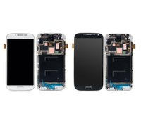 Wholesale Display S4 Blue - Grade AAA For Samsung Galaxy S4 9500 9505 I545 I337 M919 L720 Lcd Digitizer Display Screen Assembly Blue or white with Frame Free DHL