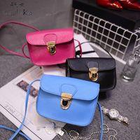 Wholesale Mobile Cover Designers - Wholesale-Baolika New Candy Color Women Flock Mini Flap Bags Mobile PU Leather Messenger Bags Crossbody Designer Ladies Shoulder Bag