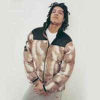 kış derisi kürkler toptan satış-2017 Yeni SP Aşağı ceket Kürk Baskı Nuptse Coats Çift coat Kış Giyim Moda S ~ XL HFYRF001