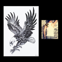 Wholesale Tattoos Eagles Designs - Wholesale- 1pc Sexy Women Men Flying Eagle Bird Flower Arm Body Art Animal Painting Tatoo HB105 Temporary Tattoo Paste Sticker Paper Design