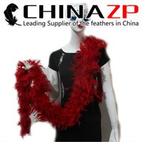 Wholesale Wholesale Red Boas - Leading Supplier CHINAZP Crafts 10yard lot cheap wholesale 80G Dyed Red Turkey Chandelle Boas for Crafts