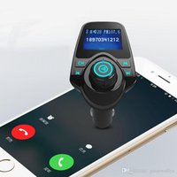Wholesale Tf Card Mp3 Usb Charger - T11 Bluetooth Car Kit Handsfree FM Transmitter MP3 Music Player Dual USB Car Charger Support TF Card U Disk Player VS T10