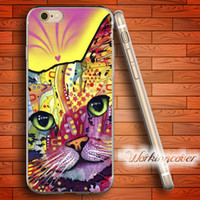 Wholesale Tattoo Iphone Cover - Capa Kitten Cat Tattoo Soft Clear TPU Case for iPhone 7 6 6S Plus 5S SE 5 5C 4S 4 Case Silicone Cover.