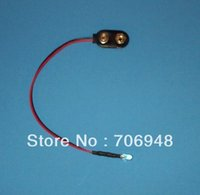 Wholesale Snap Lead Wire - Wholesale- MIX 50pcs PRE WIRED LED 9 VOLT RED FLASHING ON SNAP 9V PREWIRED BLINK FLASH