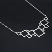 Wholesale Initial T Jewelry - Silver Necklaces Fantastic Link Women T-shirt Female Necklaces & pendants Flash Series Choker Necklace Metal-Silver-Jewelry Trendy Necklace