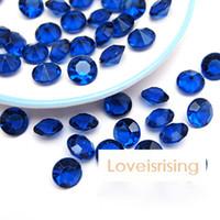 Wholesale Scatter Confetti Navy - 18 colors--1000pcs lot 10mm (4 Carat) Navy Blue Diamond Confetti Faux Acrylic Bead Table Scatter Wedding Favors Party Decor