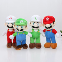 Wholesale Mario Bros Plush Doll Set - 4PCS SET 10'' 25cm Super Mario Bros Stand Mario Luigi Plush Doll Stuffed Toy 4 Styles
