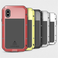 Wholesale Love Mei Powerful - Love Mei Powerful Case for iPhone X Dirt Shock Proof Metal Aluminum Colorful Case with Retail Package 20pcs up