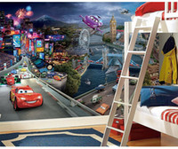Wholesale Race Room - Large Wall Mural 3d cartoon Mural wallpaper for children kids room fotomurals 3d wall murals Wallpaper Cars Racing Track Murals