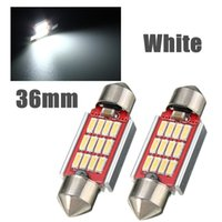 Alta calidad 36 mm 4014 SMD 12 LED luz Canbus error libre interior Festoon Doom lámpara bombilla de color blanco puro DC12-24V
