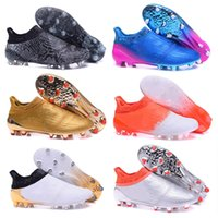 Wholesale Cheap Black Football Cleats - 2017 Wholesale Cheap X 16+ Purechaos FG AG Mens football boots Low soccer shoes FOOTBALL Cheap Cleats SHOES X 16+ Purechaos FG AG Size 39-45