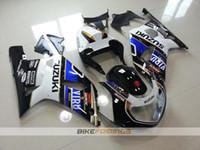 Wholesale Motorcycle Fairings White - New motorcycle bodywork kit FOR SUZUKI GSXR 600 750 fairings K1 2001 2002 2003 GSXR600 GSXR750 01 02 03 ABS fairing kits black white blue