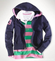 Wholesale Cotton Spring Cardigan - Ralph Polo Casual Hoodies 2016 Spring Women Sport Sweatshirts Cotton Slim Female Hooded Jackets Lady Cardigan Coat Tops With Big Horse
