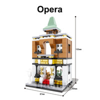 Wholesale Opera Settings - Plastic toys mini street building bricks blocks set opera 6426