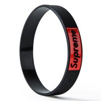Wholesale Silicone Bracelet Sports Fitness - Supre Pressurized Sports Wristbands Fitness Weight Lifting Gym Silicone Bracelet Powerlifting Wrist Support Wraps Straps Carpal Tunnel Me