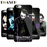 Wholesale Iphone Dark Knight - Unique Batman Dark Knight Joker Karta Print Case for iPhone 5s 5 6 6s Cover caso capa para 6 Designs plastic hard Case