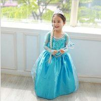 Wholesale Teenage Clothing Wholesalers - High Quality Forzen Girl Dresses Princess Children Clothing Ann a Els a Cosplay Costume Kid's Party Dress Baby Girls Clothes