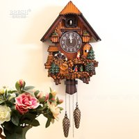 Wholesale Cuckoo Clock Antique - Wholesale-Kairos cuckoo clock fashion rustic mute photoswitchable timekeeping clock for childern