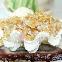 ingrosso può art-Il cristallo naturale citrino ha curvato la pietra che guarisce 100g = 1 borsa 4colore può scegliere le arti e l'artigianato Home Decorate DHL