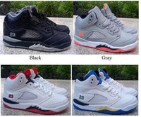 Wholesale Youth Boys Size 12 - 2017 kids shoes Retro 5 VII chirldren's basketball shoes boys and girls kids 5s sports Basketball Sneakers shoes youth sneakers size 28-35