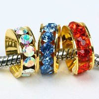 Wholesale Gold Spacers Mixed - 10mm 100pcs   Gold Color   Mixed Color Spacers Beads   Fit Charm Bracelet