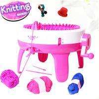 Wholesale good embroidery machine - 2017 New Children Knitting Machine 40 Needles Yarn Sweater Circular Knitting Machine DIY Scarf Hat Weaver Loom
