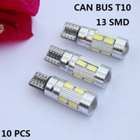 Wholesale Error Free Led Bulbs - 10 pcs T10 W5W 194 10 LED 5630 SMD Canbus Error Free Car Reading Lamps Light Auto Parking Lights Wedge Bulbs