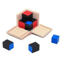 Wholesale mathematics montessori - Wholesale- 2017 Preety Kid Montessori Early Learning Algebra Mathematics Binomial Cube Set Wooden Toy MAY2_35