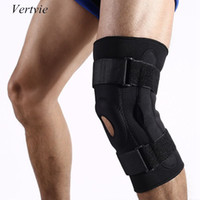 Wholesale- Vertvie Outdoor Double Aluminum Plate Knee Pads Breathable Climbing Running Knee Protective Gear Sports Safety Knee Support
