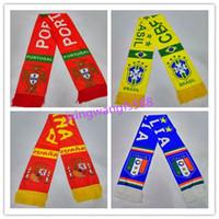 Wholesale Wholesale Football Scarves - best quality scarf 2016 2017 brazil soccer jerseys Accessories 16 17 spain italy scarf ISCO PIQUE RONALDO DE ROSSI NEYMAR JR football scarf