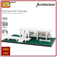 LOZ ideas Mini Blocks Farnsworth House Architecture Building Bircks DIY Juguete Modelo Juguetes Rompecabezas Educativos Niños Regalo 1012