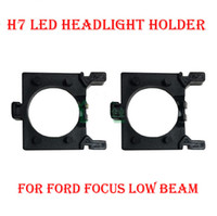 Wholesale Hid Light Xenon Adapter - 2PCS H7 LED Headlight Conversion Kit Bulb Base Holder Adapter Retainer Socket Clip For Ford Focus Low Beam HID Xenon Halogen Converter Upgra