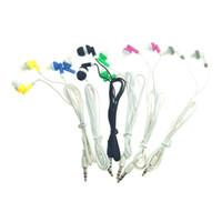 наушники fedex оптовых-Стерео в ухо наушники наушники наушники 6 цветов 2000 шт. DHL FEDEX бесплатная доставка