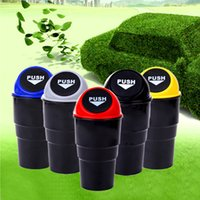 Wholesale Garbage Bins - New Car Garbage Can Trash Can Garbage Dust Case Holder Case Bin Rubbish Bin Car-Styling Mini Office Home Auto Vehicle MSHK132