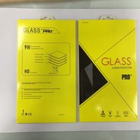2017 New Colorful Retail Box Package Paper + Plastic Box Embalagem para celular Premium Tempered Glass Screen Protector Film + Hang Hole Bag